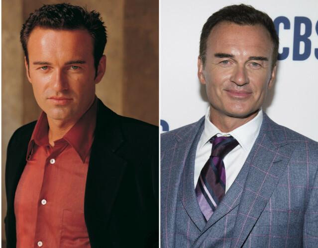 Julian McMahon i 2002 til venstre, i 2019 til høyre. Foto: Warner Bros./ NTB