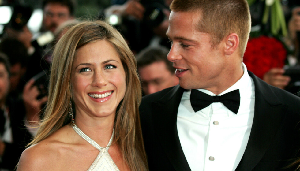 LANG KJÆRLIGHETSHISTORIE: Onsdag er det 20 år siden Jennifer Aniston og Brad Pitt giftet seg. Selv over 15 år etter at de skilte seg er kjærlighetshistorien deres ennå ikke glemt. Foto: NTB Scanpix