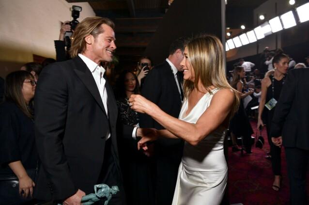 GJENFORENT: Brad og Jennifer ble gjenforent under SAG awards tidligere i år. Foto: NTB Scanpix