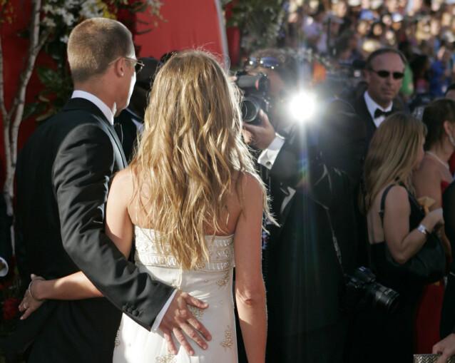 SISTE GANG: Emmy Awards i september 2004 ble siste gang ekteparet poserte sammen på den røde løperen. Foto: NTB Scanpix