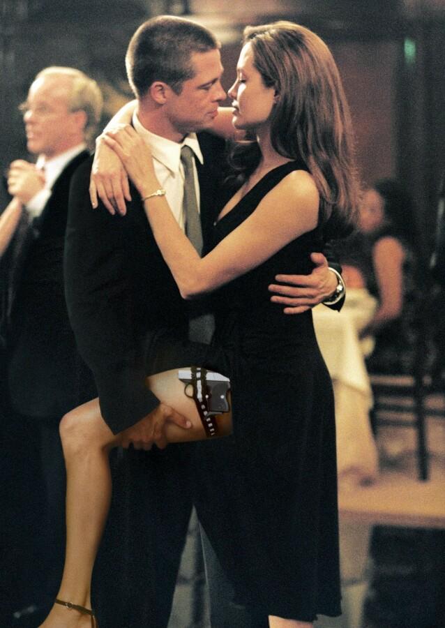 MØTTES PÅ SETTET: Brad og Angelinas følelser for hverandre begynte å blomstre på jobb. Foto: NTB Scanpix