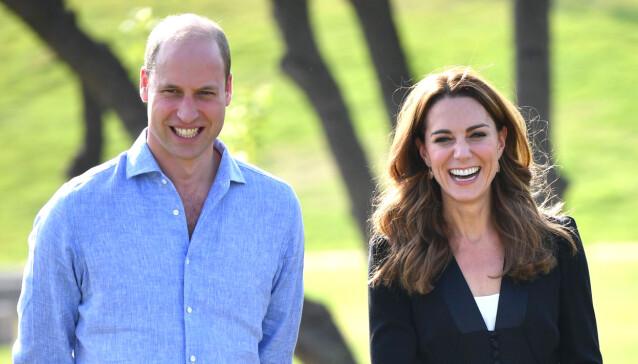 KIKKERT: Hertugen av Cambridge ga kona Kate en kikkert i bursdagsgave, noe hun syntes var noe merkelig. Foto: NTB Scanpix