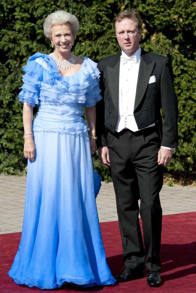MOR OG SØNN: Prins Gustav er sønn av danske prinsesse Benedikte og tyske prins Richard. Prins Richard gikk bort i 2017. Foto: NTB Scanpix
