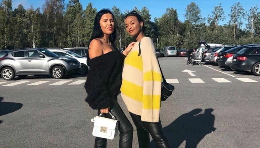PÅ FERIE: Realitydeltakerne Melina Johnsen og Jamilla Brooke Wais er to av mange kjente fjes som har dratt til utlandet den siste tida - og det får de kritikk for i sosiale medier. Foto: Privat, gjengitt med tillatelse