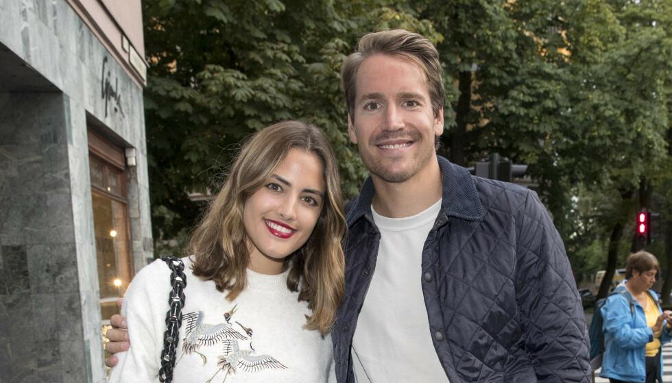 NY JOBB: Samantha Skogrand har fått ny jobb. Her er hun med forloveden Emil Hegle Svendsen. Foto: Andreas Fadum / Se og Hør
