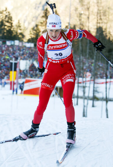 VIL DELTA: Gunn Margit Andreassen har tidligere takket nei til å delta i NRK-suksessen, men håper muligheten byr seg igjen. Her i Ruhpolding i 2008. Foto: NTB Scanpix
