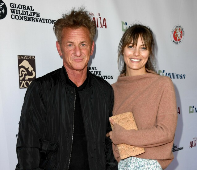 MANN OG KONE: Sean Penn og Leila George overrasket med bryllup. Her på den røde løperen i mars. Foto: NTB Scanpix