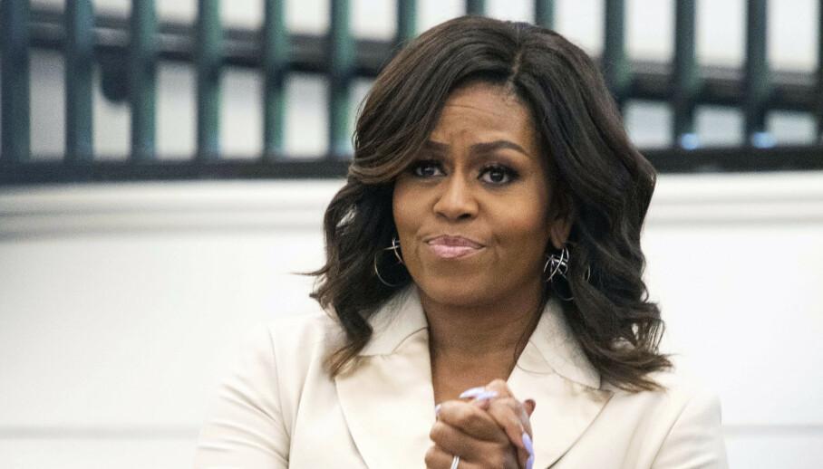 OVERGANGSALDER: Den tidligere førstedamen Michelle Obama avslører i sin egen podkast at hun går på hormoner, og har slitt med plager i overgangsalderen. Foto: NTB Scanpix