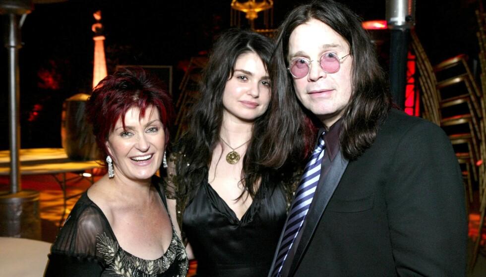 NUMMER TRE: Det er godt kjent at Sharon og Ozzy Osbourne har de to barna Jack og Kelly, men du har muligens ikke hørt om den tredje - Aimée Rachel. Hun har holdt seg borte fra rampelyset helt bevisst. Nå forteller hun hvorfor. Her fotografert i 2004. Foto: NTB Scanpix