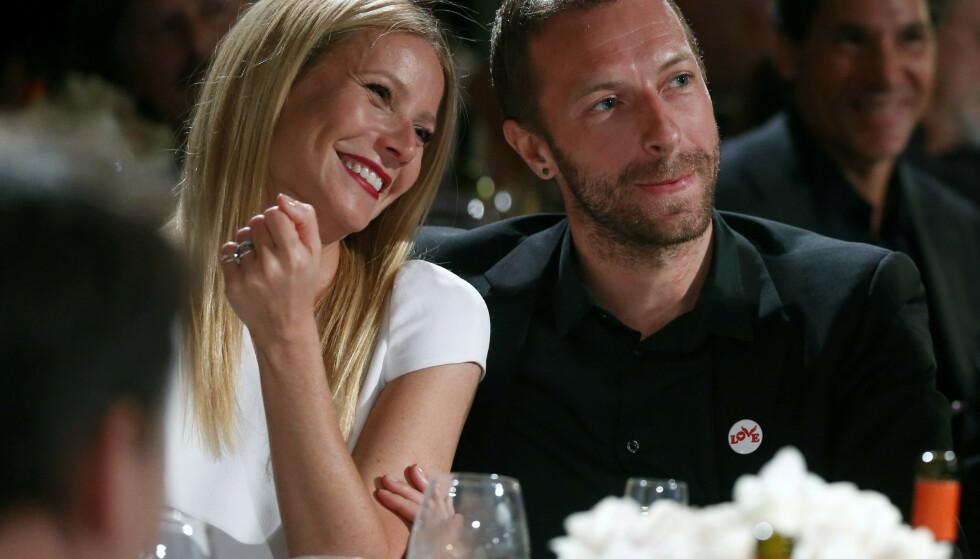 SKILT: Chris Martin og Gwyneth Paltrow var gift fra 2003 til 2014. Nå forteller Paltrow om skilsmissen i den nyeste utgaven av britiske Vogue. Foto: NTB Scanpix