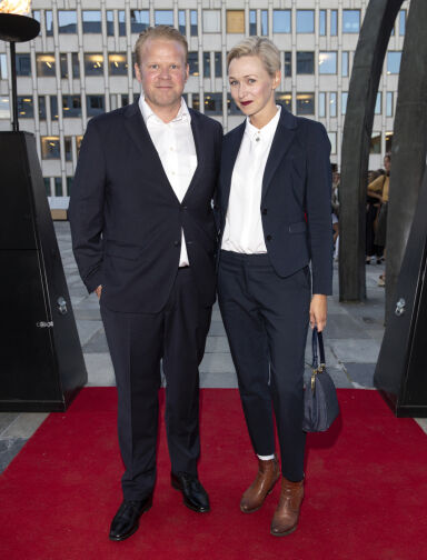 MØTTES PÅ JOBB: Anders og Marie møttes på filmsettet. I 2018 fikk de sitt første barn sammen. Foto: Andreas Fadum / Se og Hør