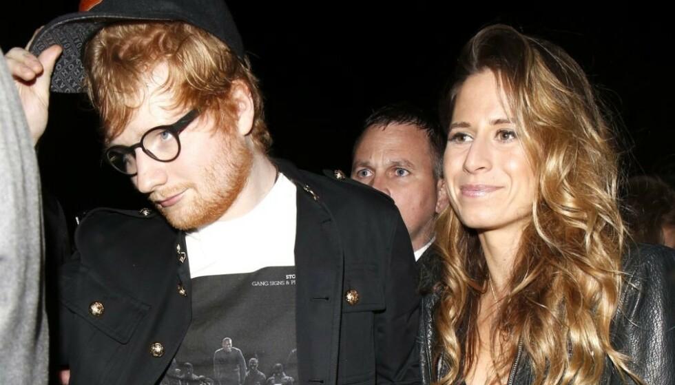 VORDENDE FORELDRE: Den britiske popstjernen Ed Sheeran og kona Cherry Seaborn blir trolig foreldre til sitt første barn denne sommeren. Foto: NTB Scanpix
