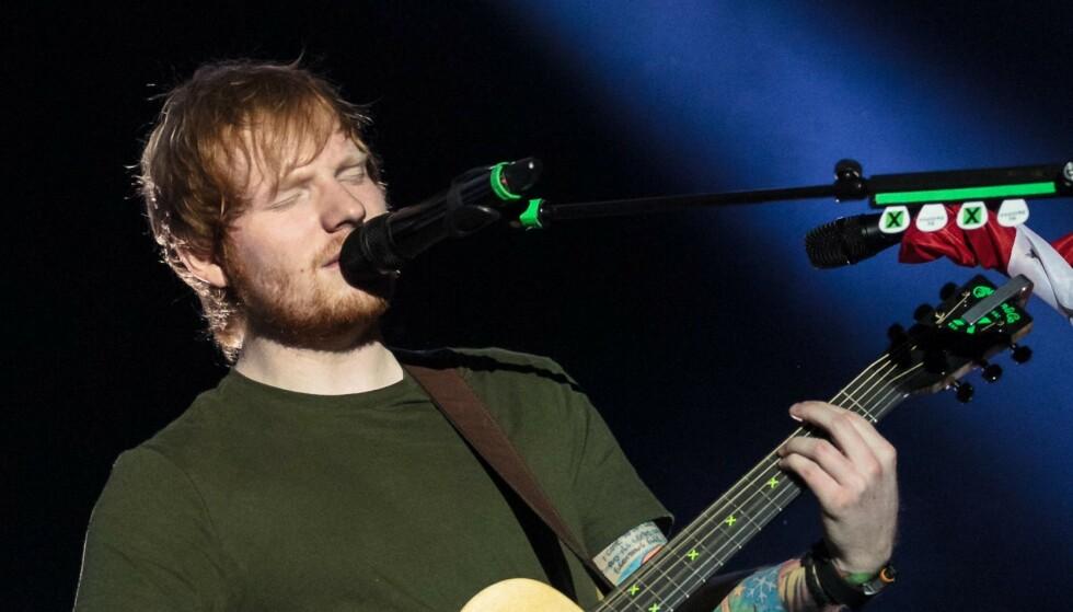 SUKSESSRIK: Ed Sheeran er en av verdens mestselgende artister. Foto: NTB Scanpix