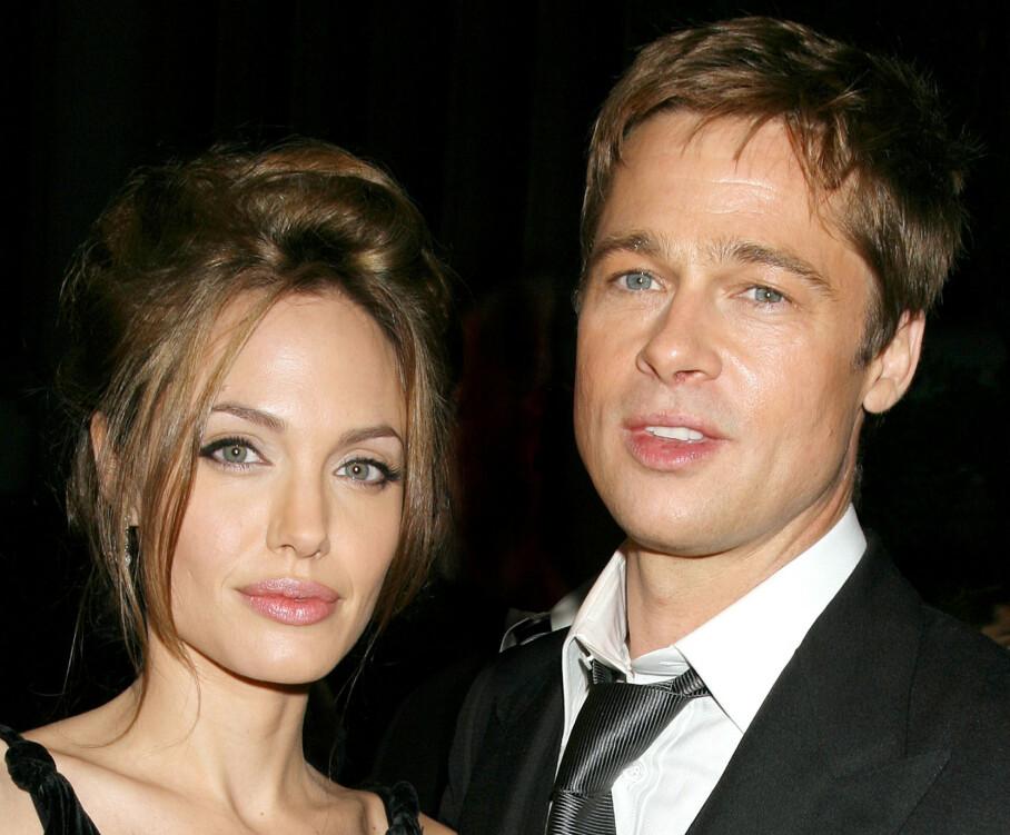 NY UTVIKLING: Den siste tiden har det blitt heftig spekulert på om forholdet mellom Brad Pitt og Angelina Jolie skal være bedre enn på lenge. Nye rettsdokumenter tyder på at det trolig ikke er helt tilfellet. Foto: NTB scanpix