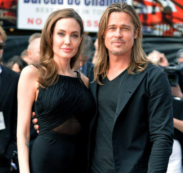 HETT PAR: Angelina og Brad var på alles lepper da de var et par. Det var derfor trolig få som hadde sett for seg at de skulle gå hver til sitt. Foto: NTB scanpix