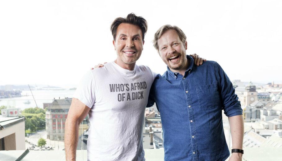 FIKK SITT ANDRE BARN: Einar Tørnquist er blitt pappa for andre gang. Her sammen med podkast-makker Jan Thomas. Foto: Gorm Kallestad / NTB scanpix