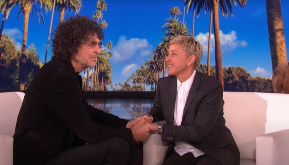 FÅR RÅD: Ellen DeGeneres får råd fra radioprofilen Howard Stern. Han mener programlederen bør endre image. Foto: TV3