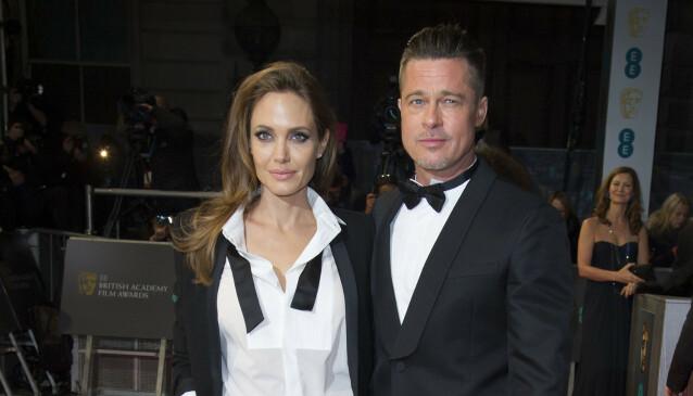 EKSPAR: Brad Pitt og Angelina Jolie var mann og kone i to år. Foto: NTB Scanpix