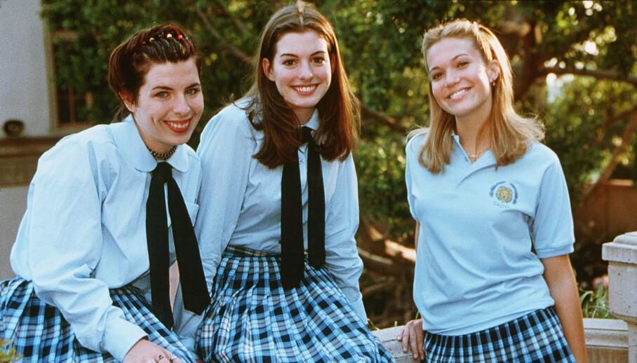 DEN GANG DA: Heather Matarazzo, Anne Hathaway og Mandy Moore fikk alle svært mye oppmerksomhet etter å ha spilt i «Prinsesse på prøve». Førstnevnte har imidlertid ikke vært like framtredende i rampelyset som sine to skuespillerkolleger. Foto: NTB scanpix