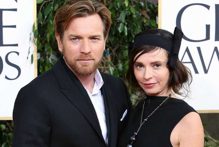 DYRE DOMMER: Filmstjernen Ewan McGregor slipper ikke billig unna i skilsmisseoppgjøret. Her er han og Eve Mavrakis på Golden Globe-utdelingen i 2013, da de fortsatt var mann og kone. Foto: REX/ NTB Scanpix