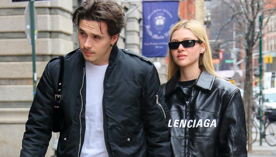 <strong>GIFT?:</strong> Den siste tiden har det blitt heftig spekulert på om Brooklyn Beckham og Nicola Peltz har giftet seg. Nå setter ryktene fart igjen. Foto: NTB scanpix