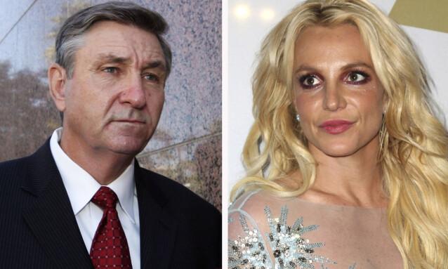 VIL FJERNE FAREN: Britney Spears vil ha Jodie Montgomery som sin permanente verge istedenfor sin egen far Jamie Spears (t.v.). Foto: NTB Scanpix