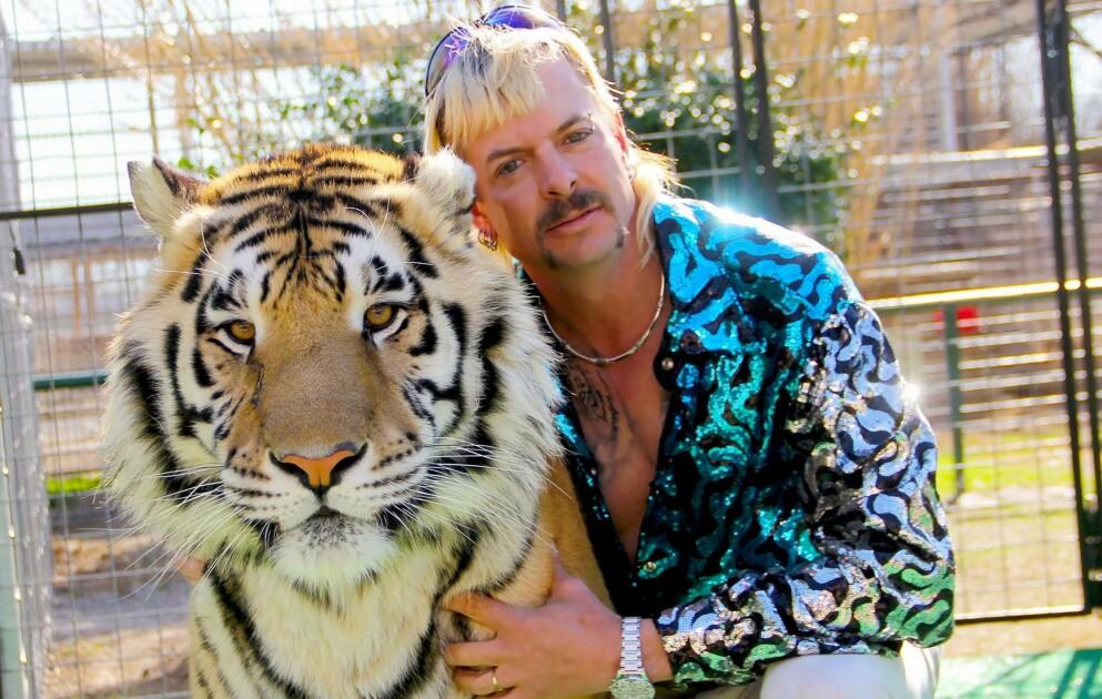 JUL I FENGSEL: «Tiger King»-profilen Joe Exotic kan trolig spise seg god og mett på julemat i fengselet. Foto: Netflix / AFP / NTB