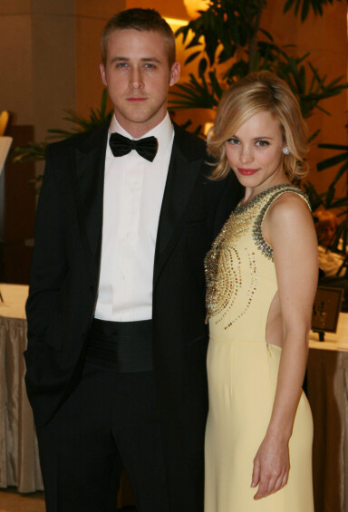 MØTTES PÅ JOBB: Ryan Gosling og Rachel McAdams var i tre år blant Hollywoods hotteste par. De to møttes da de spilte sammen i «The Notebook». Her i 2006. Foto: NTB scanpix