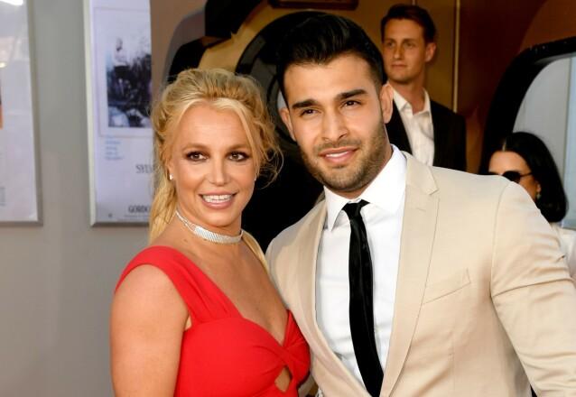 FORHOLD: Britney Spears og Sam Asghari har holdt sammen i snart fire år. Foto: NTB scanpix