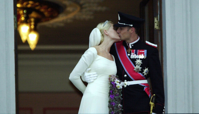 19 ÅR SIDEN: 25. august 2020 er det 19 år siden kronprinsparets eventyrlige bryllup i Oslo domkirke. Foto: NTB Scanpix