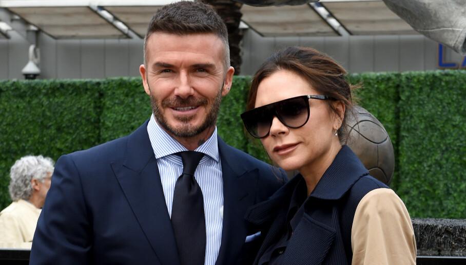 BESATT: David Beckham skal være en stor fan av konas skjønnhetsprodukter. Foto: NTB Scanpix