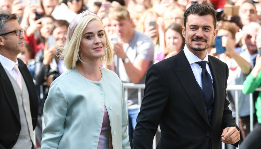 BLE FORELDRE: Stjerneparet Katy Perry og Orlando Bloom har fått sitt første felles barn. Foto: AFP/ NTB Scanpix