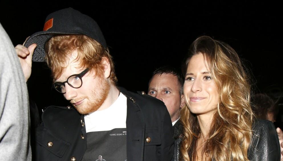 BLE FORELDRE: Ed Sheeran og Cherry Seaborn har vært sammen siden 2015. Foto: Beretta/Sims/REX/NTB