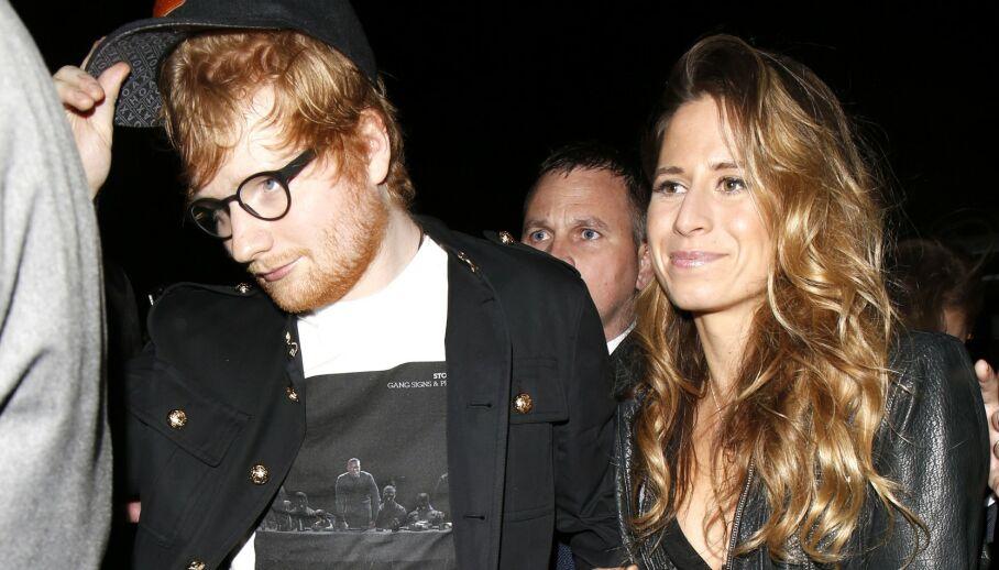 BABYLYKKE: Artist Ed Sheeran røper at han og Cherry Seaborn er blitt foreldre for første gang. Foto: NTB scanpix