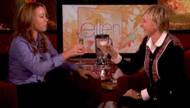 BEKLEMT: Stemningen mellom Mariah Carey og Ellen DeGeneres under dette intervjuet var ikke spesielt god, ifølge popstjernen. Foto: TV3