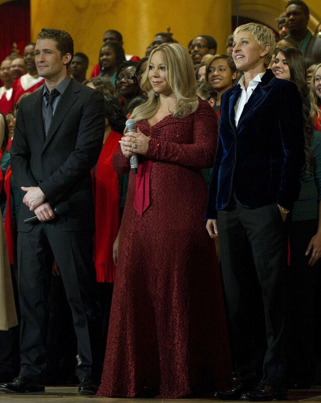 - UTILPASS: Mariah Carey og Ellen DeGeneres har møttes en rekke ganger. Her er de fotografert sammen i 2010, sammen med skuespiller Matthew Morrison, i forbindelse med en veldedighetsgalla. Foto: AFP/ NTB Scanpix