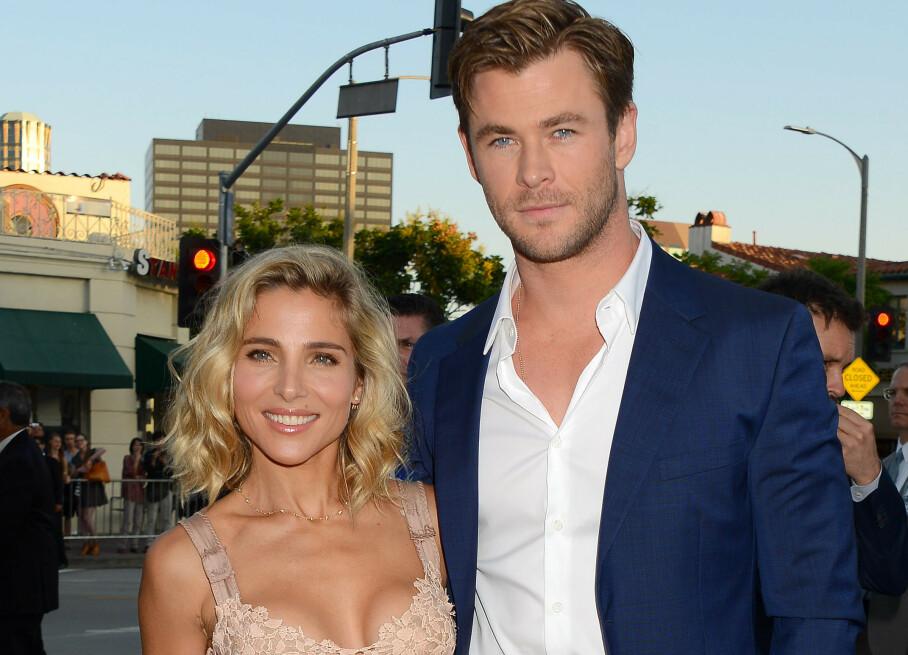 STJERNEPAR: Fansen mener Elsa Pataky og Chris Hemsworth er definisjonen på det perfekte paret. Førstnevnte er imidlertid ikke helt enig. Foto: NTB scanpix