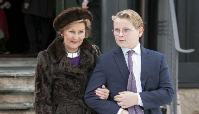 HYGGELIG: Dronning Sonja tror det blir en hyggelig konfirmasjon førstkommende lørdag. Foto: Terje Pedersen / NTB scanpix