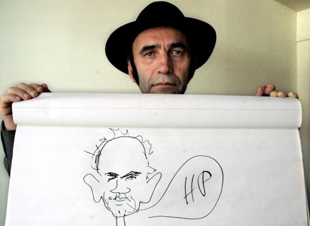 MUSIKKPRODUSENT: Her er HP Gundersen avbildet i 2007. Han er mannen som oppdaget og produserte en hærskare norske artister, som Sondre Lerche. Foto: NTB Scanpix