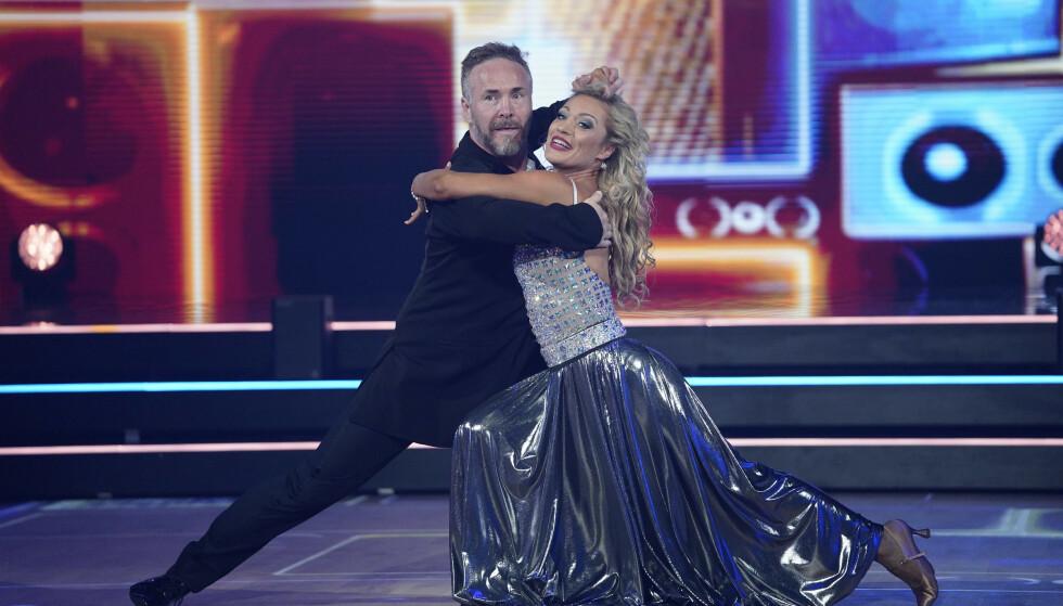 HØSTET SKRYT: Michael Andreassen gjorde dommerne fornøyde med sin tango. Foto: Espen Solli / TV 2