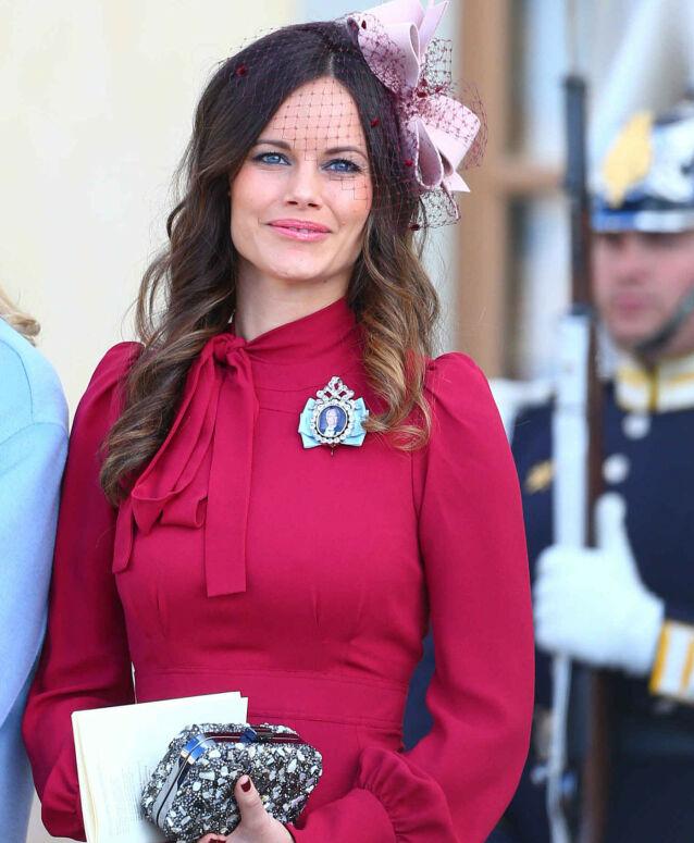 TIL STEDE: Prinsesse Sofia avbildet i dåpen til prins Nicolas i oktober 2015. Foto: REX/ NTB scanpix
