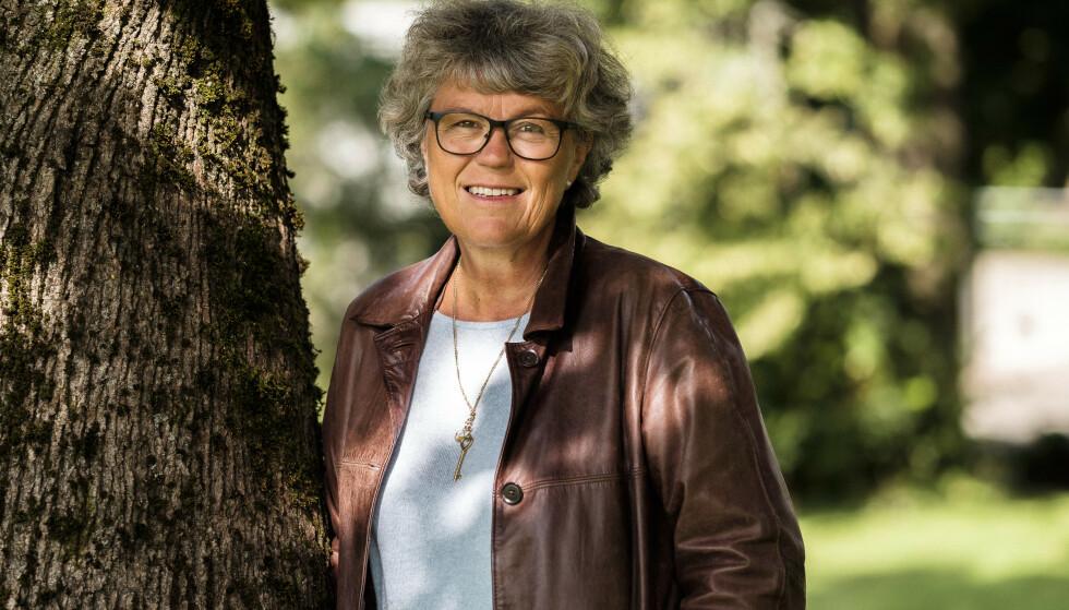 SELGER DRØMMEHUSET: Forfatter og tidligere justisminister Anne Holt og kona Tine Kjær selger huset på Grefsen i Oslo. Prisantydningen er på hele 19,5 millioner. Foto: NTB Scanpix