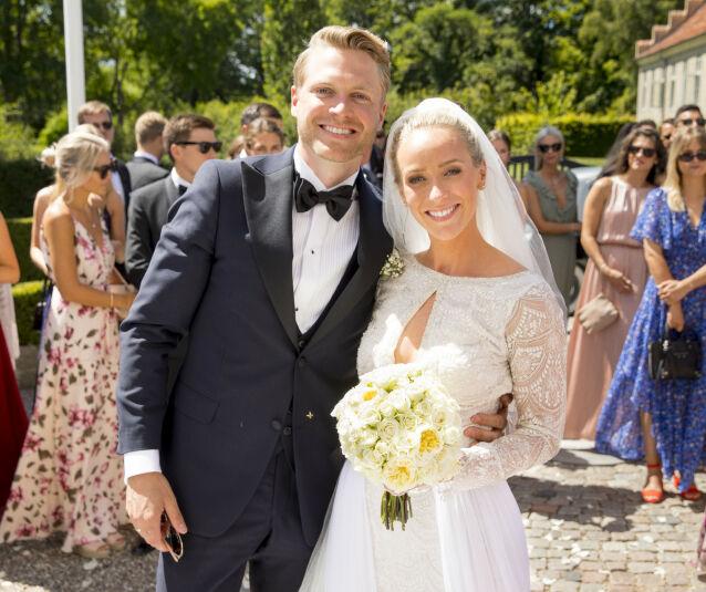 ÅPENHJERTIGE: Harald og Katarina, som giftet seg for to år siden, forteller åpenhjertig om fødselen i onsdagens episode av sin felles podkast. Foto: Espen Solli / Se og Hør