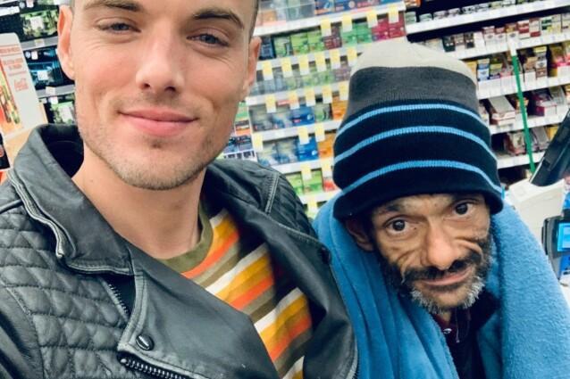 VENN: Skuespillerens kompis Drew Gallagher vil gjerne hjelpe kameraten ut av de kriminelle baner. Foto: Gofundme