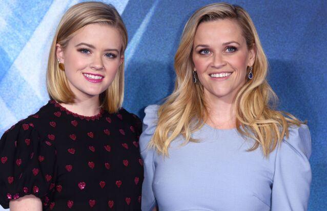 VELDIG LIKE: Det er ikke så vrient å se at Ava og Reese er i slekt. Helt siden førstnevnte var liten har hun vært klisslik kjendismoren. Foto: NTB scanpix