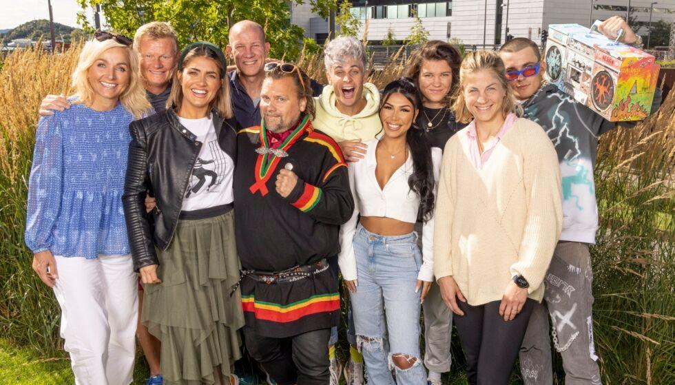 DELTAKERNE: Her er alle deltakerne som skal være med i den tolvte sesongen av TVNorge-programmet samlet. Foto: Morten Bendiksen/ TVNorge