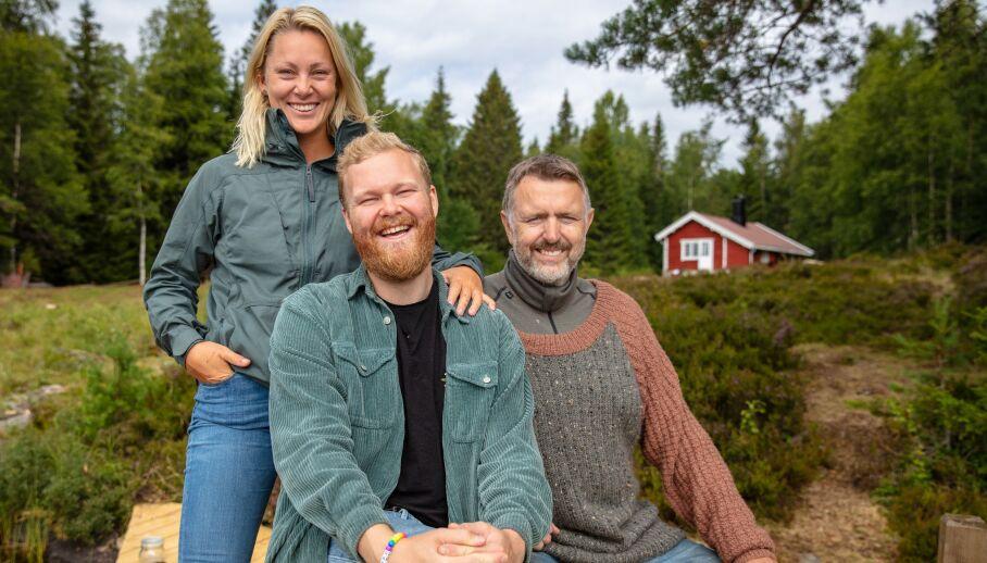TILBAKE PÅ SKJERMEN: Karianne Amlie Wahlstrøm, Mathias Scott Pascual og Olav Harald Ulstein bemerket seg alle i hver sin «Farmen»-sesong. Nå er de tilbake, men denne gangen på «Torpet». Foto: Alex Iversen / TV 2