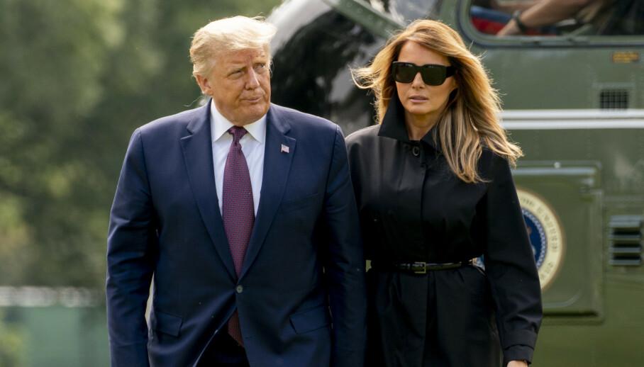 GIFT: Melania og Donald Trump har vært gift siden 2005. Hun er presidentens tredje kone. Foto: NTB scanpix