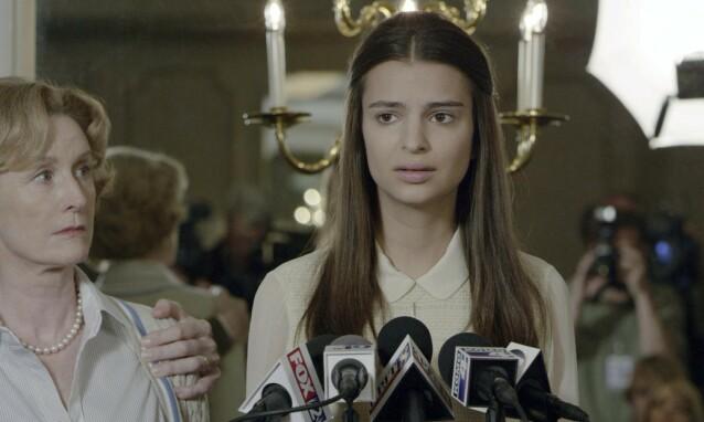 <strong>MODELL OG SKUESPILLER:</strong> Emily Ratajkowski i en scene fra thrilleren «Gone Girl». Foto: Merrick Morton/ 20th Century Fox/ REX/ NTB