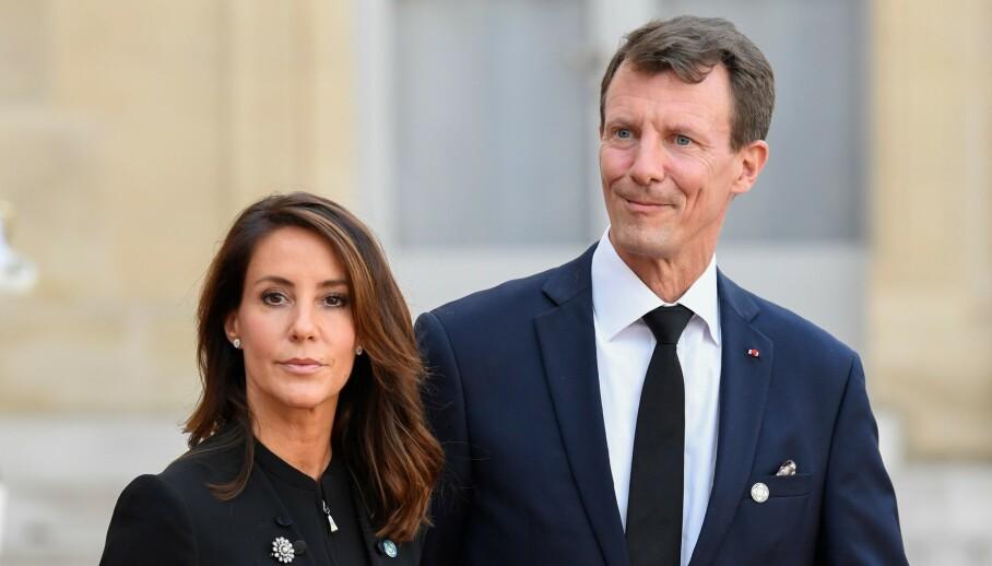ÅPNER OPP: For halvannen måned siden ble prins Joachim utskrevet etter å ha vært innlagt på sykehus med blodpropp i hjernen. Nå snakker han ut. Her med kona, prinsesse Marie, fra en annen anledning. Foto: NTB